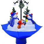 sněžící vánoční dekorace